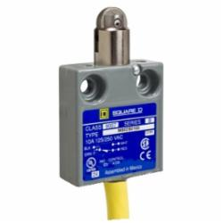 Square D 9007MS02S0400 LIMIT SWITCH 240VAC 10AMP MS +OPTIONS,#18 AWG SJTO Cable (Yellow) 12 Feet,-40...220 deg.F,10 A,240Vac/28Vdc,9007,fixed,limit switch,plunger head,9007MS/ML,miniature potted,plunger head,NC-NO,NEMA 1/2/4/6/6P/12/13 IP 67,Roller Horizontal - Parallel,UL Listed - CSA Certified - CE Marked,fixed,fixed,metal,linear