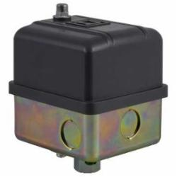 Square D 9013GHB2J31 PRESSURE SWITCH 575VAC 5HP G +OPTIONS,-,0.25 inch NPSF internal conforming to UL 508,20...40 psi,200 psi (40...170 psi),65...200 psi,90...120 psi,300 PSIG,40 to 170 PSIG,DPST,NEMA 3R,Pressure Switch,Pumptrol,Rainproof and Ice proof (Indoor/Outdoor),Screw Clamp,UL listed, CSA,control electrically driven water pumps and air compressors,fresh water (-22...257 deg.F)-air (-22...257 deg.F)