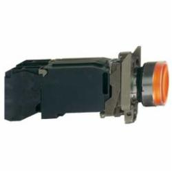 Schneider Electric XB4BW3545 PUSHBUTTON LED 240VAC 22MM XB4 +OPTIONS,1 NO + 1 NC,10A,22 mm,220...240 V AC, 50/60 Hz,AC15 - DC13,BA 9s,incandescent,Harmony XB4,NEMA 4/4X/13,Screw Clamp,UL Listed File Number E164353 CCN NKCR - CSA Certified File Number LR44087 Class 321103 - CE Marked,Water tight, Dust tight and Corrosion Resistant (Indoor/Outdoor),chromium plated metal,complete illuminated push-button,complete illuminated push-button,slow-break