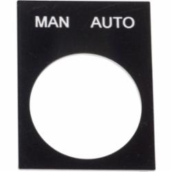 Schneider Electric ZB2BY2372 LEGEND PLATE (MAN AUTO),Pushbutton Legend Plate,UL Listed File Number E164353 CCN NKCR - CSA Certified File Number LR44087 Class 321103 - CE Marked