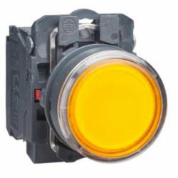 Schneider Electric XB5AW35G5 PUSHBUTTON LED 120VAC 22MM XB5B +OPTIONS,1 NO + 1 NC,10A,110...120 V AC, 50/60 Hz,22 mm,AC15 - DC13,Harmony XB5,NEMA 4/4X/13,Screw Clamp,UL Listed File Number E164353 CCN NKCR - CSA Certified File Number LR44087 Class 321103 - CE Marked,Water tight, Dust tight and Corrosion Resistant (Indoor/Outdoor),complete illuminated push-button,complete illuminated push-button,plastic,integral LED,protected LED,slow-break,spring return