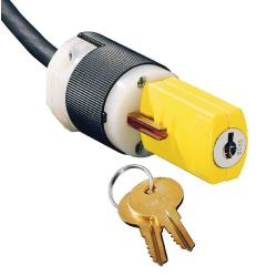 Hubbell Wiring Device-Kellems PLUG LOCKOUT DEVICE, KEYED, 2PACK