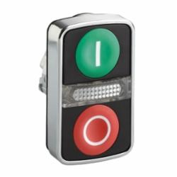 Schneider Electric ZB4BW7A3741 METAL ILLUM FLUSH TWO BUTTON PILOT WHITE/WHITE,(1)Green - (1)Red White I and White O,22mm Rectangular,Dual Button (2)Flush (with central pilot light),Harmony,Momentary,Non-Illuminated,Pushbutton Operator,UL Listed File Number E164353 CCN NKCR - CSA Certified File Number LR44087 Class 321103 - CE Marked