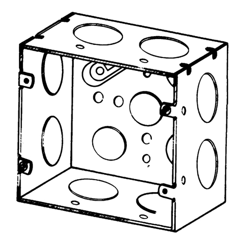 Appleton Etp Square Box 42 Cu In 12 Outlet 12 Knockout Steel