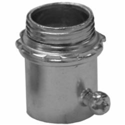 Appleton® 4100S ETP™ 4000S Non-Insulated Straight Conduit Connector, 1 in Trade, For Use With EMT Conduit, Steel, Zinc Plated