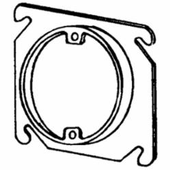 APP 8461A 4-IN SQ-RND 1/2 PLAS RING