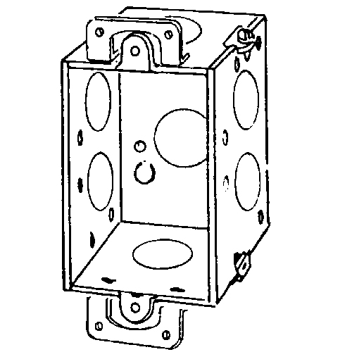 Appleton 222 Corner Gangable Switch Box With Plaster Ears