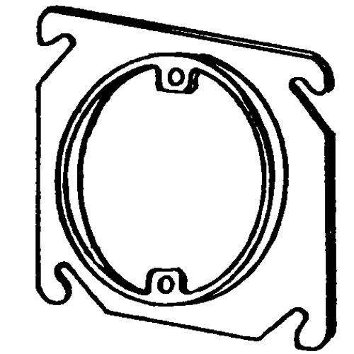 Appleton 8461e Etp 1 Device Square Box Cover 4 In L X 4 In W X 14