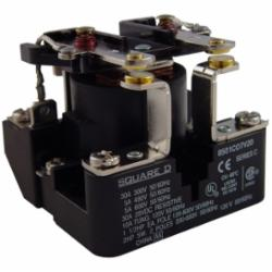 Square D 8501CO7V04 RELAY 600VAC 5AMP TYPE C +OPTIONS,-22...122 deg.F,1-Phase,2 NO DPST,277 Vac@60Hz,30A,AC Rated,Panel Mount,Screw Clamp,Suited for controlling small single phase motors and other light loads such as electric heaters, pilot lights or audible signals.,UL Listed File E78351 CCN NLDX - CSA Certified File 209683 Class 3211 04 - CE Marked