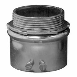 Appleton® 4200S ETP™ 4000S Non-Insulated Straight Conduit Connector, 2 in Trade, For Use With EMT Conduit, Steel, Zinc Plated