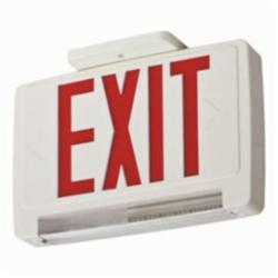 Lithonia Lighting® ECBR LED M6 LED Combination Exit Sign With Emergency Light, 8-1/4 in H x 12-5/8 in W, Thermoplastic