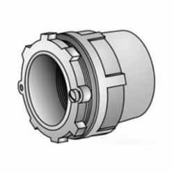 O-Z/Gedney CH-75T Space-Maker Conduit Hub, 3/4 in, For Use With Rigid/IMC Conduit, Malleable Iron, Zinc Plated