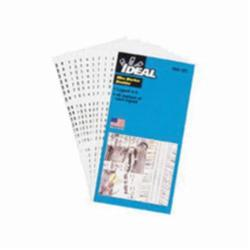 Ideal Industries 44-101 Self-Sticking Wire Marker Booklet, Black, Plastic-Impregnated Cloth
