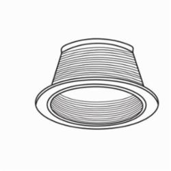 Juno® VuLITE® V3024W-WH Conical Baffle Trim, 7-3/4 in OD, Incandescent Lamp