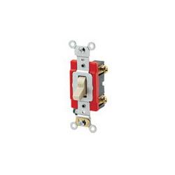 Leviton® 1221-2I Extra Heavy Duty Toggle Switch, 120/277 VAC, 20 A, 1 hp/2 hp