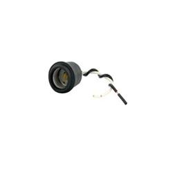 Leviton® 124-D Keyless Lampholder With Shoulder, 660 W, 250 VAC, Medium Incandescent Lamp