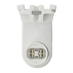Leviton® 13464-W Pedestal Plunger End Lamp Holder, 660 W, 600 VAC, Pedestal Contact Fluorescent Lamp