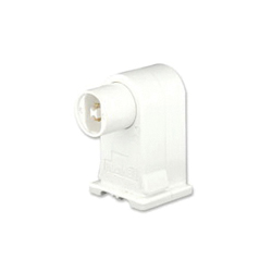 Leviton® 13556-W Plunger End Standard Lamp Holder, 660 W, 1000 VAC, Double Contact Fluorescent Lamp