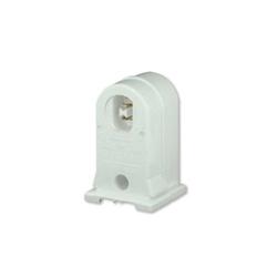 Leviton® 13557-W Pedestal Standard Lamp Holder, 660 W, 600 VAC, Double Contact Fluorescent Lamp