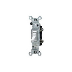 Leviton® 1451-ICP Toggle Switch, 120 VAC, 15 A, 1/2 hp