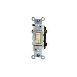 Leviton® 1453-2I 3-Way Toggle Switch, 120 VAC, 15 A, 1/2 hp