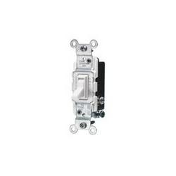 Leviton® 1453-2W 3-Way Toggle Switch, 120 VAC, 15 A, 1/2 hp