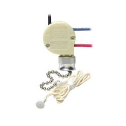 Leviton® 1689-50 3-Speed Pull Chain Switch, 125/250 VAC