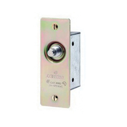 Leviton® 1865 Doorjamb Box Switch, 125 V, 3 A, Momentary Mode, 1NO