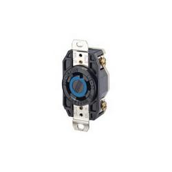 Leviton® 2720 Locking Single Receptacle, 250 VAC, 30 A, 3 Poles, 4 Wires, Black