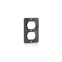 Leviton® 3051-E 1-Gang Standard Cover Plate, For Use With Duplex Receptacle, Polycarbonate, Black