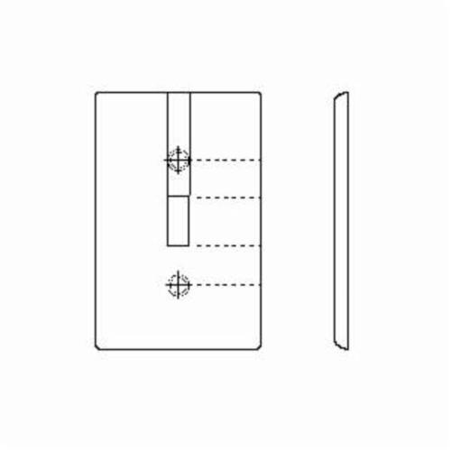 leviton u00ae 88009 standard wallplate  2 gangs  white  4 5 in