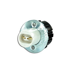 Leviton® 523 Plunger End Standard Lamp Holder, 660 W, 600 VAC, Double Contact Fluorescent Lamp