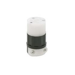 Leviton® 5269-PLC Straight Blade Connector, 125 VAC, 15 A, 2 Poles, 3 Wires, Black/White