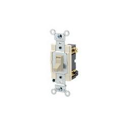 Leviton® 54504-2I 4-Way Toggle Switch, 120/277 VAC, 15 A, 1/2 hp/2 hp