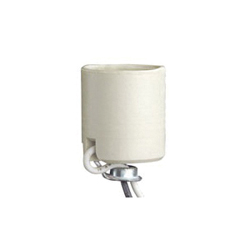 Leviton® 8052-8 Keyless Lamp Holder, 660 W, 250 VAC, Medium Incandescent Lamp