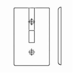 Leviton® 80701-W Standard Wallplate, 1 Gang, 4-1/2 in H x 2-3/4 in W, Nylon, White