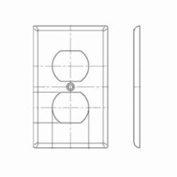 Leviton® 80703-E Standard Wallplate, 1 Gang, 4-1/2 in H x 2-3/4 in W, Nylon, Black