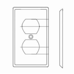 Leviton® 80703-W Standard Wallplate, 1 Gang, 4-1/2 in H x 2-3/4 in W, Nylon, White