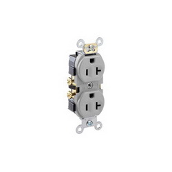 Leviton® CR20-GY DUP RCPT-5800-GY 052SAN