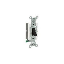Leviton® CS120-2E Toggle Switch, 120/277 VAC, 20 A, 1 hp/2 hp