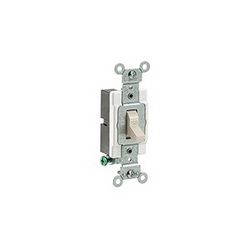 Leviton® CS120-2T Toggle Switch, 120/277 VAC, 20 A, 1 hp/2 hp