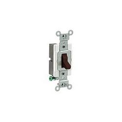 Leviton® CS120-2 Toggle Switch, 120/277 VAC, 20 A, 1 hp/2 hp