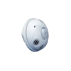 Leviton® ODC10-MDW Line Voltage Ceiling Mount Occupancy Sensors, 120/230/277 VAC, 1000 sq-ft Coverage, 180 deg