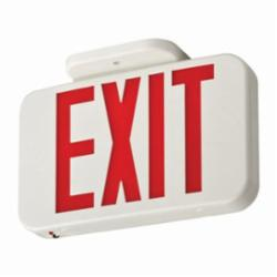 LITH EXRLEDELM6 LED EXIT SIGN WITH BATTERY BACKUP, RED LETTERS, WHITE
