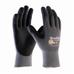 PIPR 34-874/L G-TEK MAXIFLEX BLACK MICRO-FOAM NITRILE COATED PALM & FINGER TIPS WORK GLOVES
