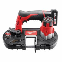 Milwaukee® M12™ Cordless Band Saw Kit, 1-5/8 in Cutting, 27 in L x 1/2 in W x 0.02 in THK Blade, 12 V, 3 Ah (Kit)
