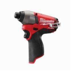 Milwaukee® M12 FUEL™ Compact Cordless Impact Driver, 1/4 in Hex/Straight Drive, 3550 bpm, 1200 in-lb Torque, 12 V (Bare Tool)