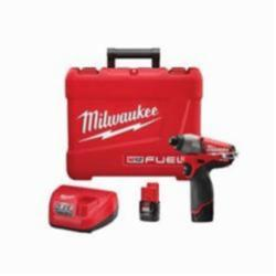 Milwaukee® M12 FUEL™ 2453-22 High Performance Cordless Impact Driver Kit, 1/4 in Hex Drive, 0 to 3550 ipm, 12 V