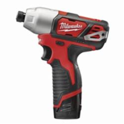 Milwaukee® M12™ 2462-22 High Performance Cordless Impact Driver Kit, 1/4 in Hex Drive, 0 to 3300 ipm, 1000 in-lb Torque