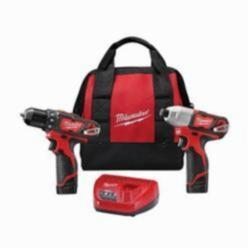 Milwaukee® M12™ Cordless Combination Kit, 6 Pieces, Red (Kit)
